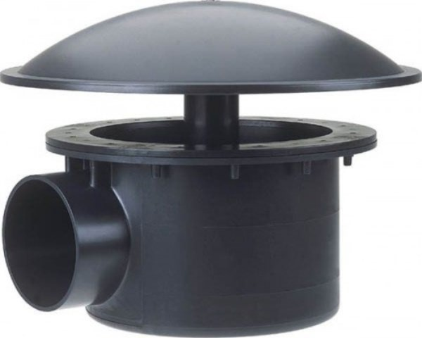 BOTTOMDRAIN 110 MM DOMED