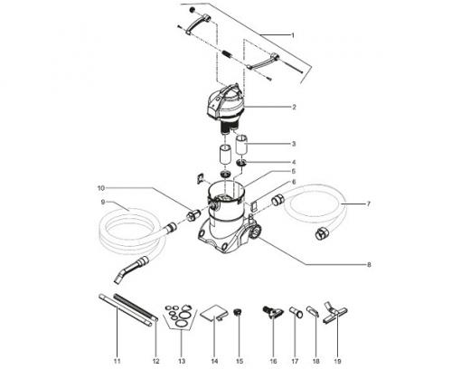 oase pondovac 3 onderdelen daruma koi. Black Bedroom Furniture Sets. Home Design Ideas