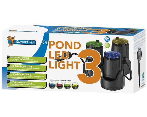 Superfish led light 3 daruma koi for Superfish led verlichting