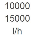 10.000 - 15.000 l/h