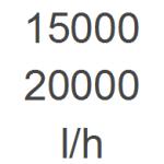 15.000 - 20.000 l/h