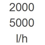 2.000 - 5.000 l/h