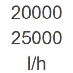 20.000 - 25.000 l/h