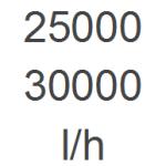 25.000 - 30.000 l/h