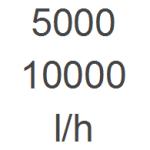 5.000 - 10.000 l/h